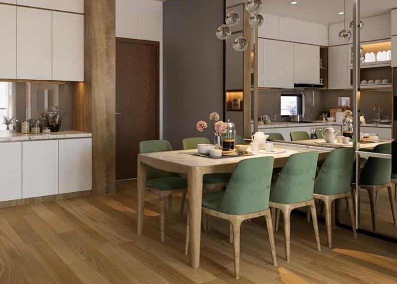 bộ bàn ghế ăn hiện đại 084TP với kiểu dáng đơn giản nhưng sang trọng sẽ là tâm điểm cho không gian phòng ăn của gia đình bạn