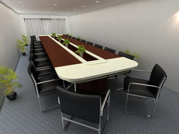 bàn họp văn phòng phong cách nhẹ nhàng, dễ chịu
