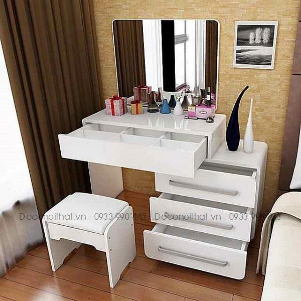 Bàn trang điểm với thiết kế thông minh sẽ giúp không gian làm đẹp của bạn thêm phần hấp dẫn