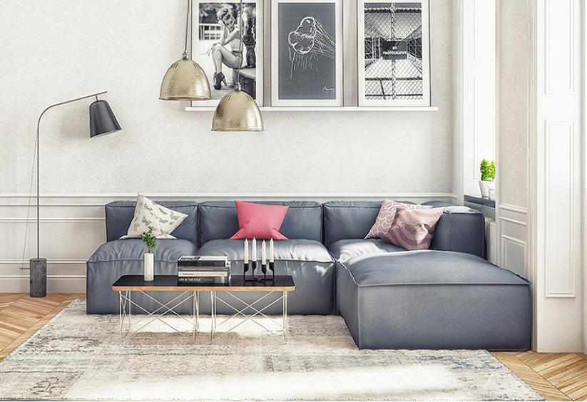 Làm đẹp không gian nội thất phòng khách với bộ bàn ghế sofa sang chảnh