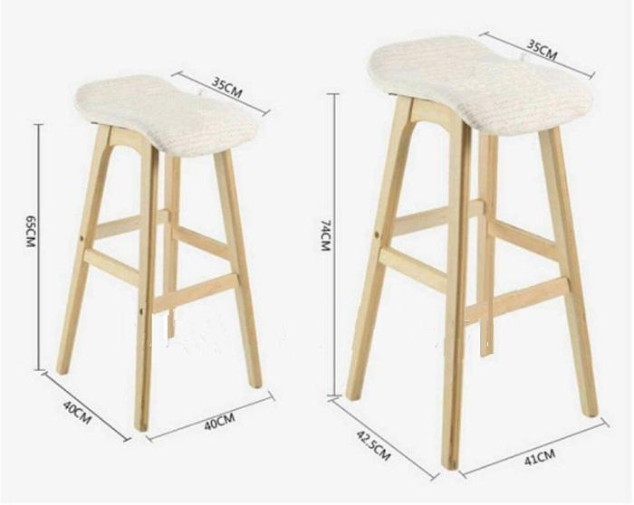 Ghế bar 029 được làm bằng gỗ tự nhiên,bọc nệm