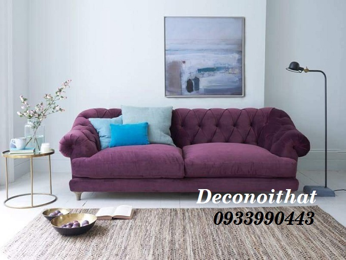 Thiết kế ghế sofa vải nhung ấn tượng