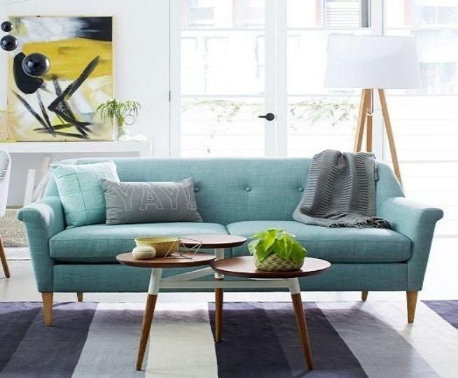 Sofa 2 chỗ 007 được thiết kế cho không gian phòng khách kết hợp với chiếc bàn sofa sinh sắn