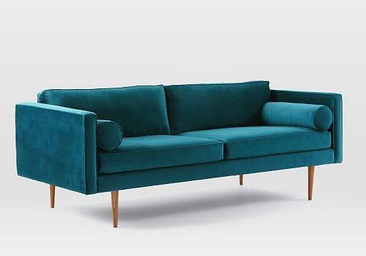 Sofa 2 chỗ 059 được sử dụng bằng tông màu xanh phá phong cách cho không gian phòng khách nhà bạn