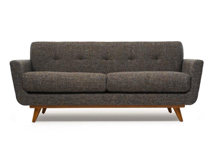 Sofa 2 chỗ 073 được làm bằng chất liệu nệm mút D40, vải bố
