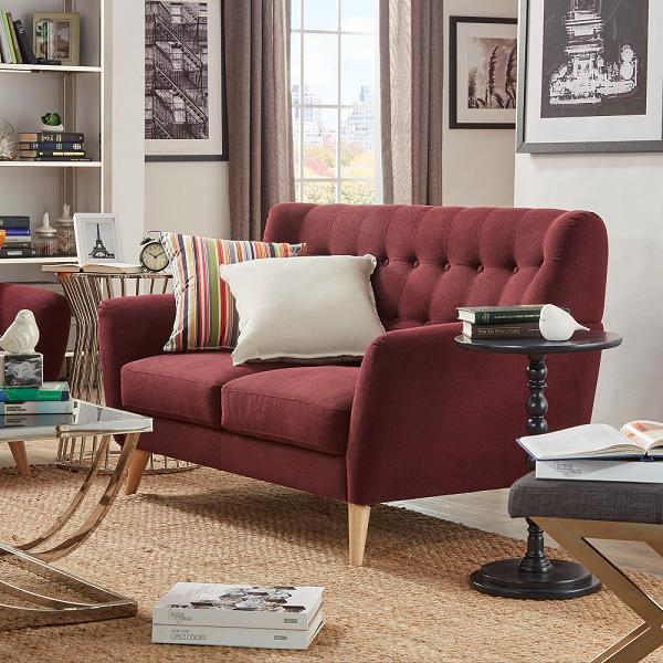 Không gian phòng khách nhỏ rất thích hợp cho chiếc ghế sofa 078 này
