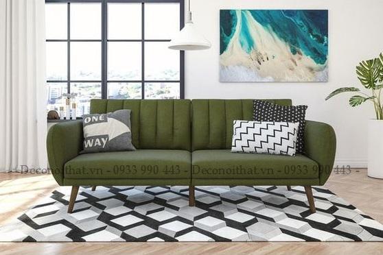 ghế sofa 2 chỗ 089TP với gam màu xanh rêu nổi bật sẽ là điểm nhấn cho khô