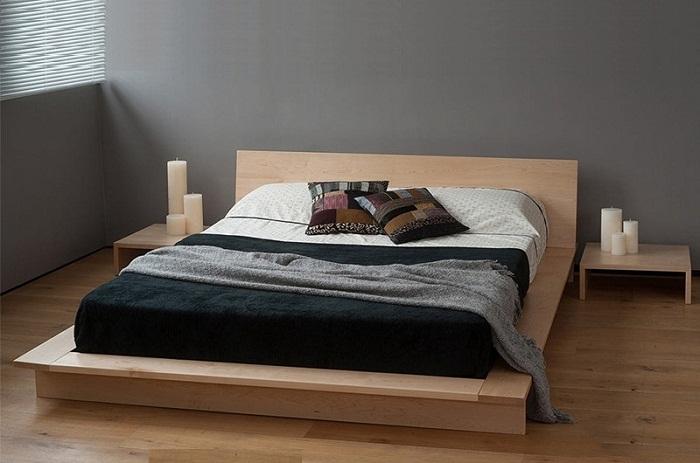 Giường ngủ gỗ 119 đẹp mang phong cách đơn giản