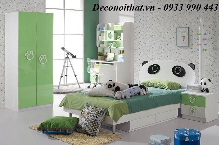 Báo giá thi công nội thất phòng ngủ bé trai gỗ MDF sơn 2K