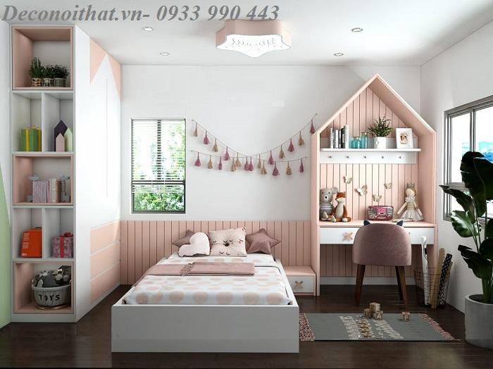Thiết kế phòng ngủ cho bé đẹp đa sắc màu.