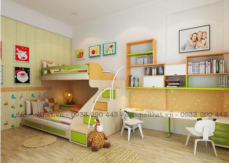 nội thất cho bé|giường ngủ|bàn học|kệ sách với chất liệu gỗ đã qua xử lý đảm bảo an toàn cho sức khỏe của trẻ nhỏ