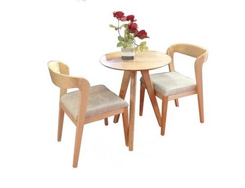 Bàn ghế café thiết kế đơn giản