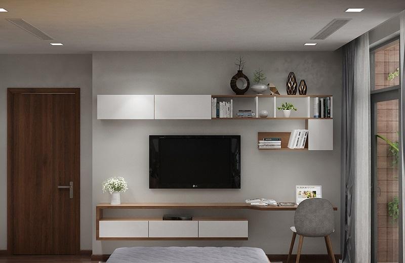 Kệ tivi phòng ngủ đơn giản là một mẫu sản phẩm lý tưởng cho không gian riêng tư của bạn