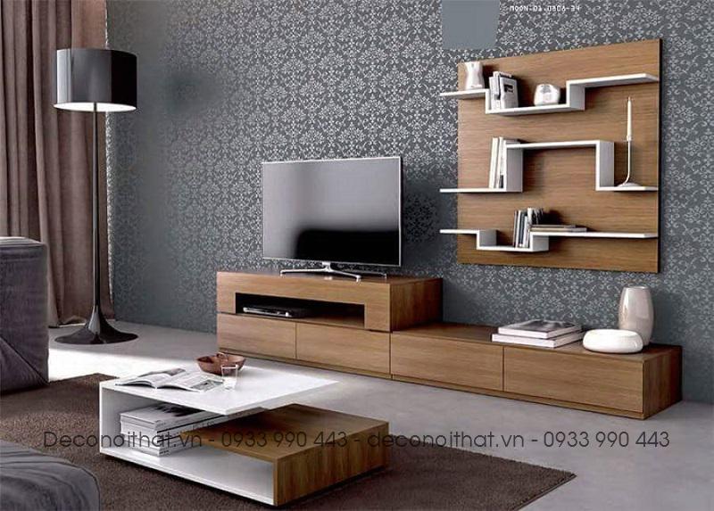 bộ kệ tivi với thiết kế đơn giản cũng kệ treo sẽ mang đến sự hài hòa, thống nhất cũng như sự sang trọng và hiện đại cho ngôi nhà.