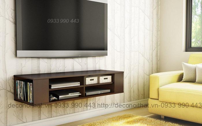 kệ tivi treo tường 049 là giải pháp thông minh cho nội thất nhà phố nhỏ