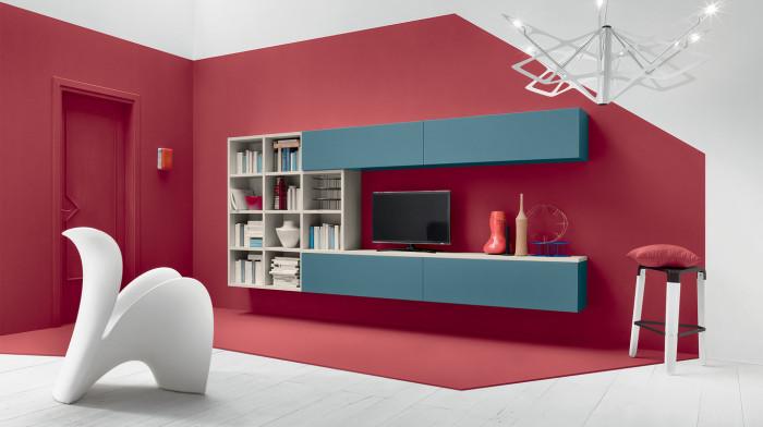 Chỉ với một chiếc kệ sách treo tường vừa có thể tiết kiệm không gian vừa tạo được mẫu phòng khách đẹp lý tưởng