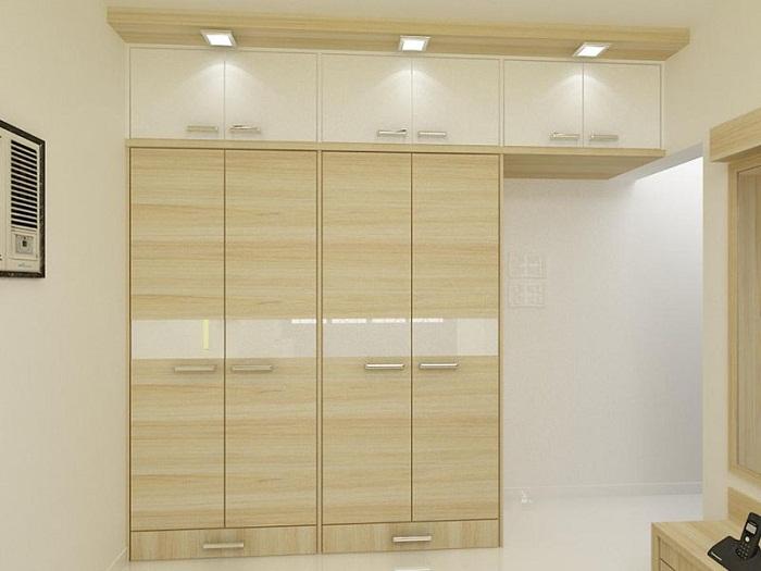 Tủ áo 171 cao đụng trần tận dụng không gian được khách hàng đưa vào thiết kế nội thất phòng ngủ nhiều