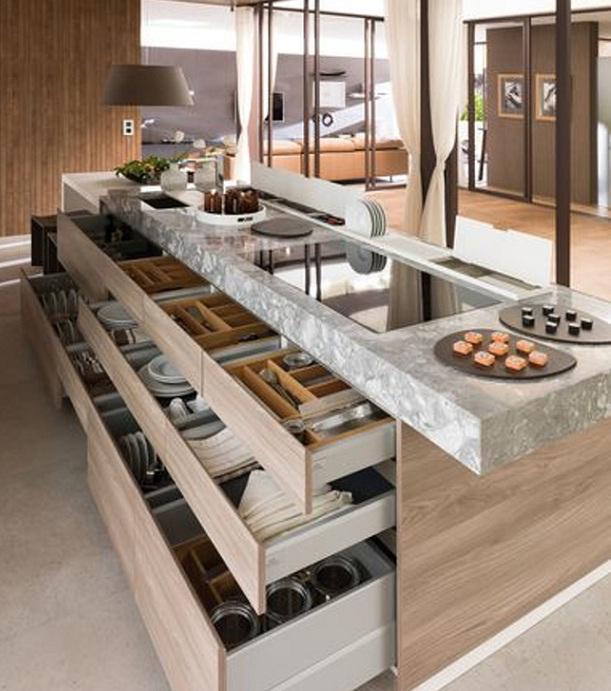 Căn bếp hiện đại với nhiều tính năng sử dụng
