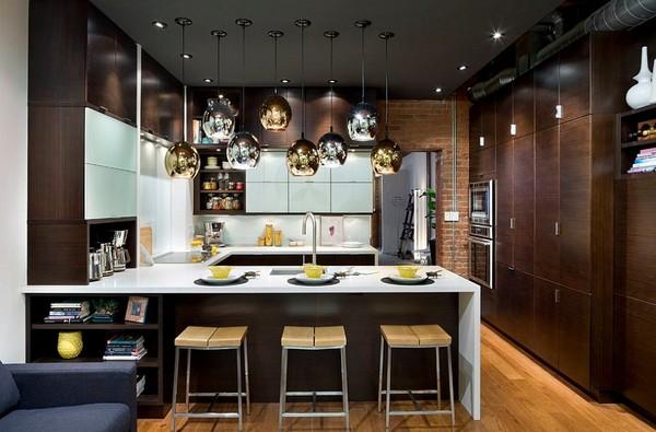 Trang trí phòng bếp với phụ kiện ánh kim