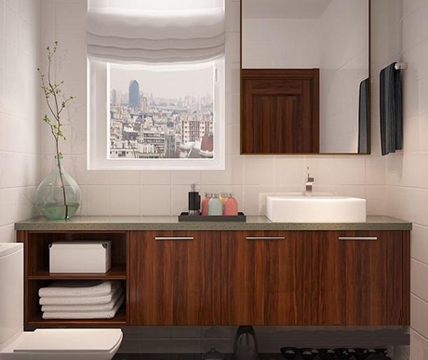 Thi công nội thất nhà tắm với mẫu Tủ lavbo đẹp tại Deconoithat