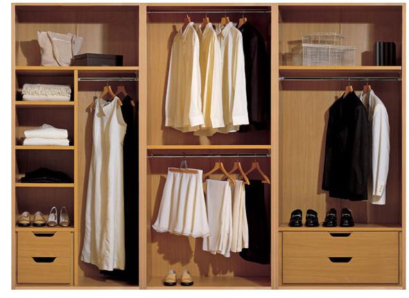 mẫu tủ quần áo được làm bằng chất liệu phủ verneer