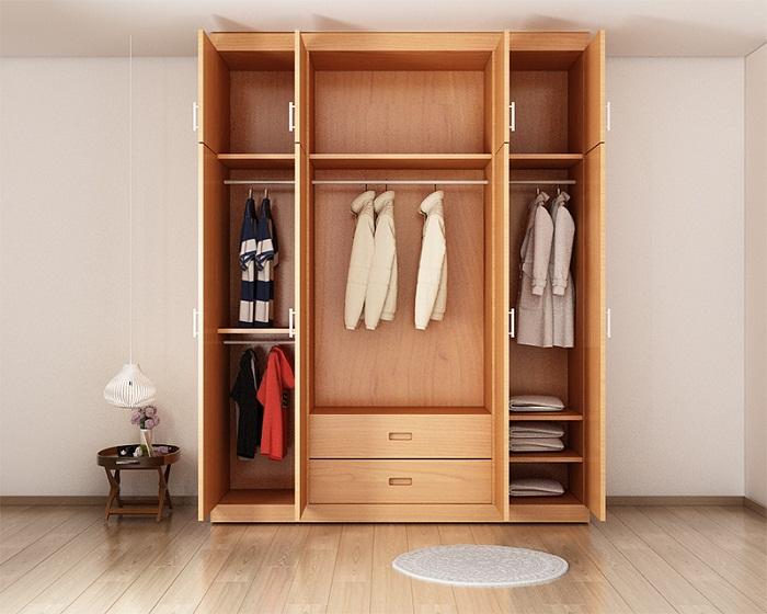 Lựa chọn tủ quần áo phù hợp với không gian phòng ngủ