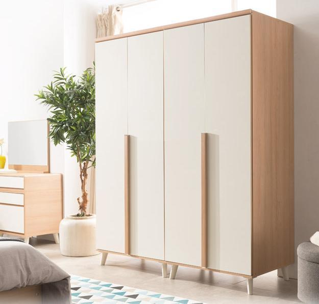 Tủ quần áo được làm bằng chất liệu gỗ công nghiệp màu sắc đa dạng